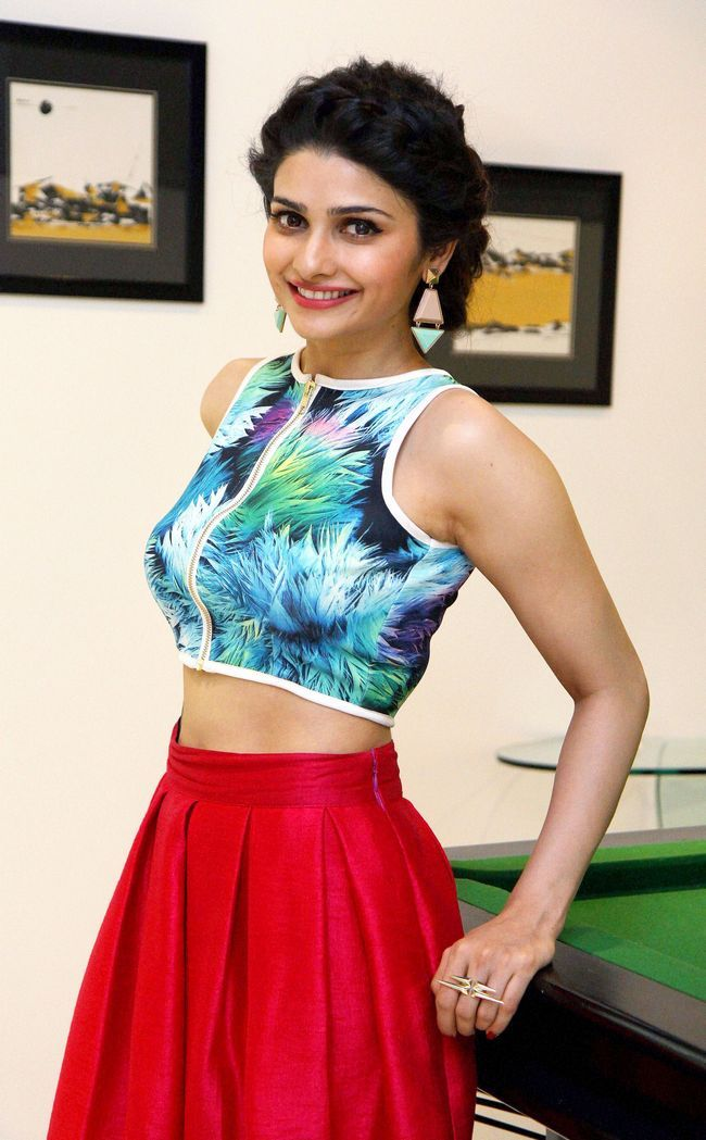 Prachi Desai wore a Nitya Bajaj crop top for 'Ek Villain' promotional event. ***