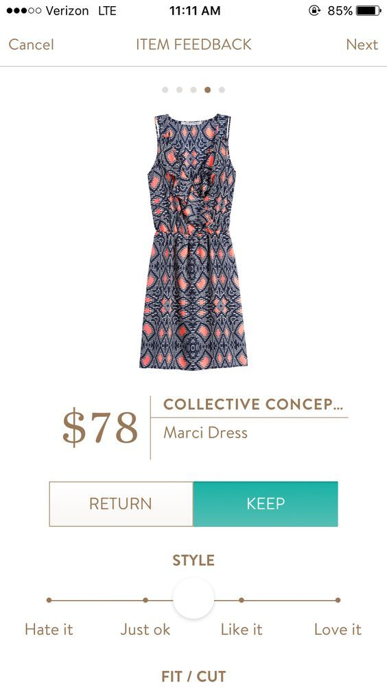 Love the color, print & style. [Stitch Fix Collective Concepts Marci Dress]