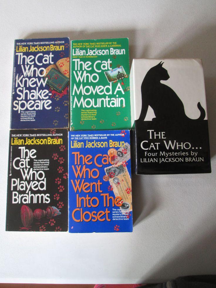 LILIAN JACKSON BRAUN BOX SET LOT OF 4 MYSTERY PAPERBACKS The Cat Who Mysteries