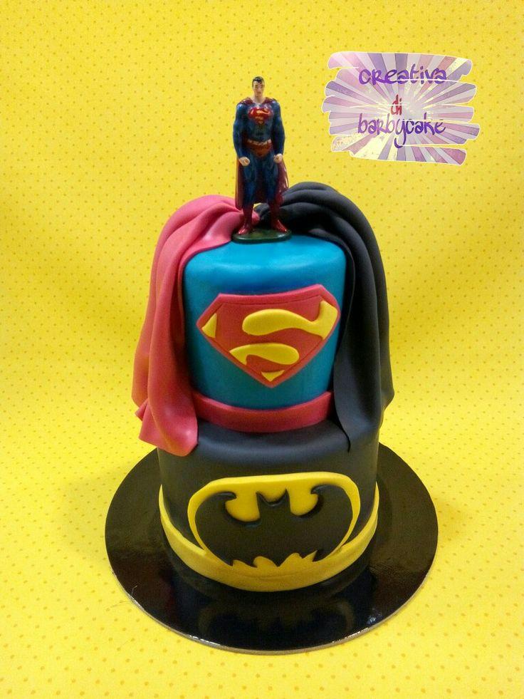 #batman #superman #supereroi #topper