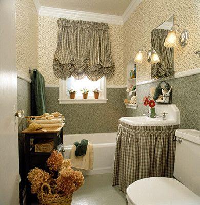 Bathroom Sink Skirt