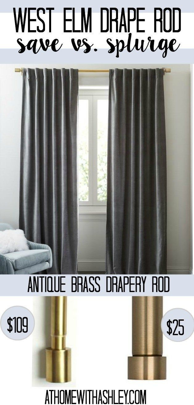 The Prettiest Velvet And Tassel Drapes Ikea Curtain Rods Modern