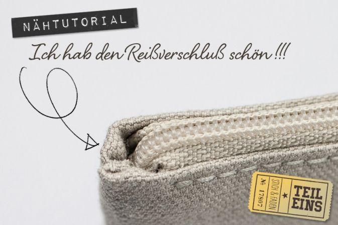 Anleitung Reißverschluß einnähen ohne Knubbel von Stich & Faden, Teil 1