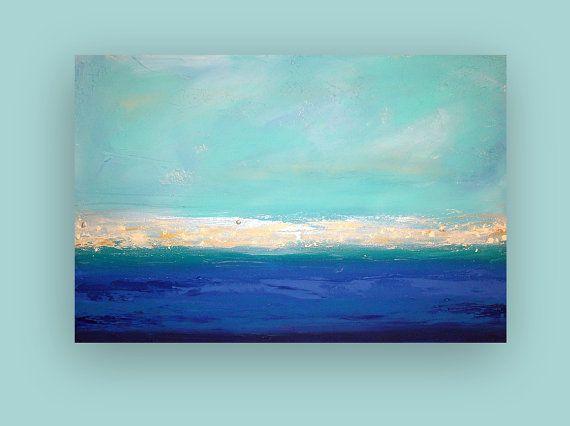 Original Abstract Art Fine Gallery Painting on by OraBirenbaumArt