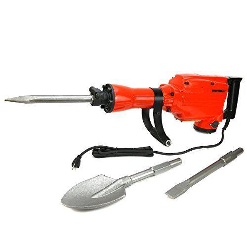 heavy duty electric demolition jack hammer concrete breaker 2200watt w shovel https