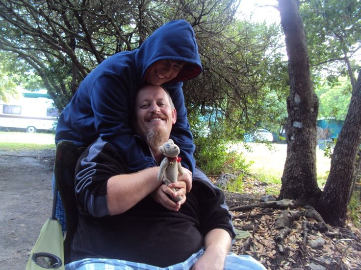 James and lightning came for a hug...