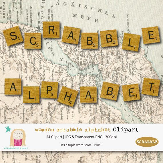 Scrabble Clipart Scrabble Letters Alphabet by DreamingOnAStar, $3.75