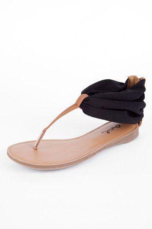 Agency Flat Thong Sandal in Black $22 at www.tobi.com