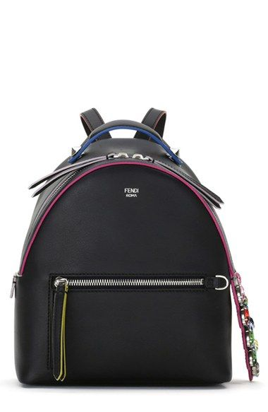 Fendi Crystal Embellished CrocTail Mini Backpack