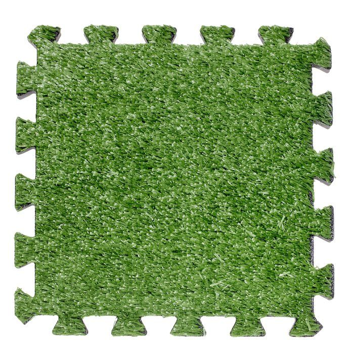 Interlocking Artificial Grass Deck 12 X 12 Carpet Tile In Green Grass Carpet Artificial Grass Artificial Grass Backyard