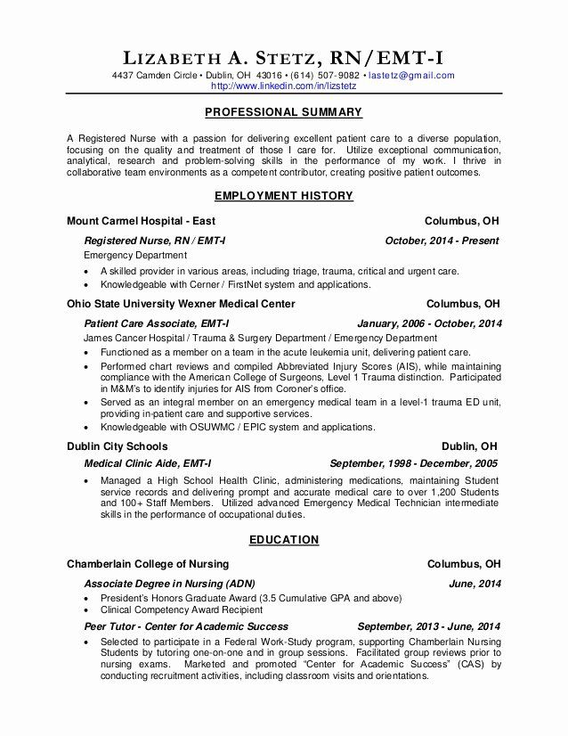 Emt Job Description Resume Luxury Rn Resume