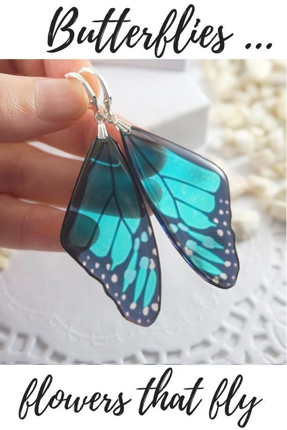 0847be783 Ultra Violet Butterfly Earrings, Colorful Statement, Bohemian, Resin ...
