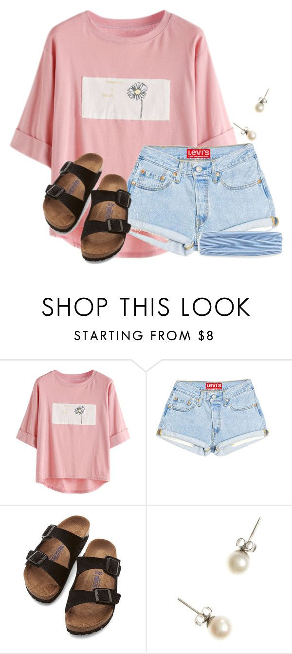 """""""~feel good~"""" by flroasburn ❤ liked on Polyvore featuring Birkenstock and J.Crew"""