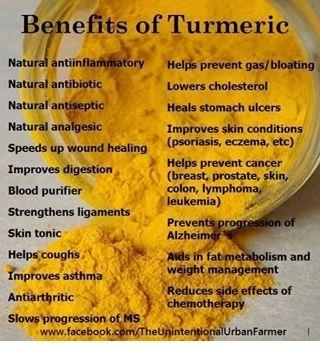 tumeric - I use this for inflammation from rheumatoid arthritis.