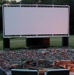Make your own outdoor theater with PVC... this site has lots of uses for PVC in the garden and around the home.