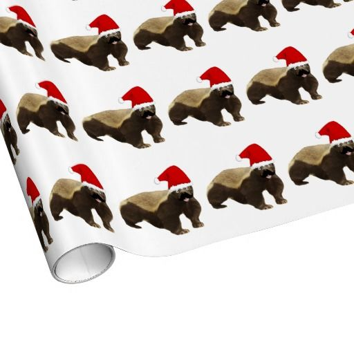 Honey Badger Christmas Wrapping Paper! I need this!