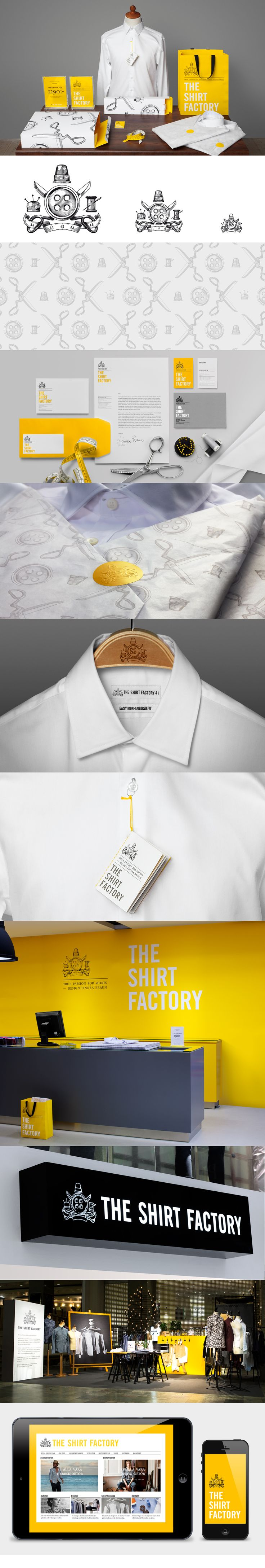 Love the yellow accent.  The Shirt Factory brand by Bold