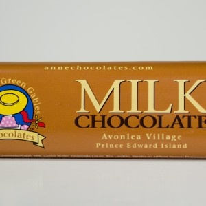 Anne of Green Gables Milk Chocolate Bar, 64g - Premium, handmade chocolate that draws inspiration from Canada's most beloved fictional character, Anne of Green Gables, by famous author L.M. Montgomery (PEI)...available in gift baskets from BeenThereGifts.com, an Atlantic Canadian company