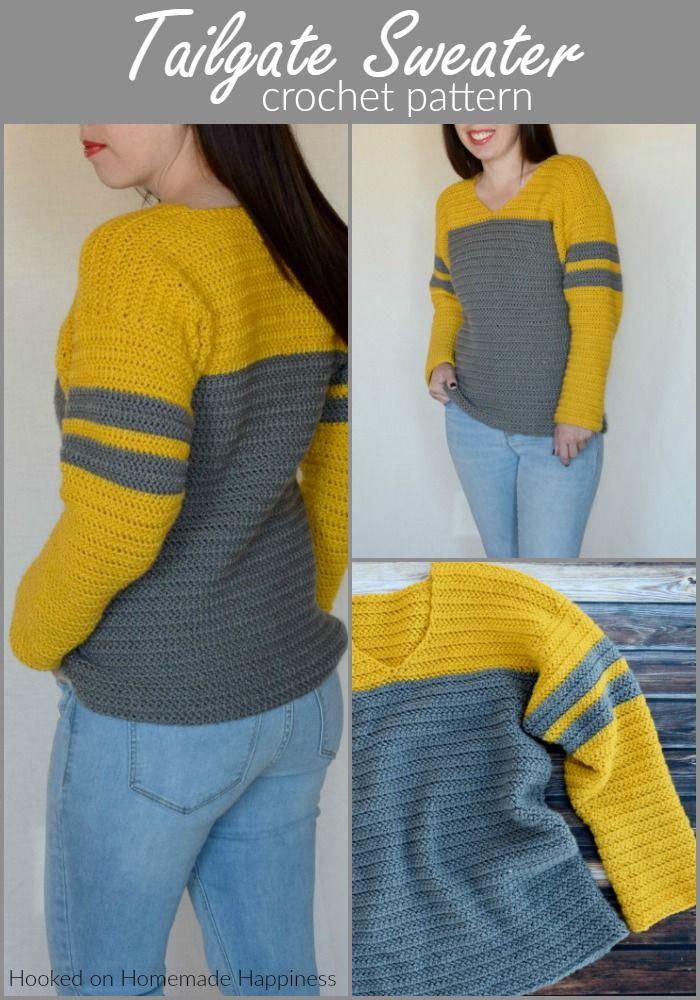 Tailgate Sweater Crochet Pattern | CROCHET | Pinterest | Crochet ...