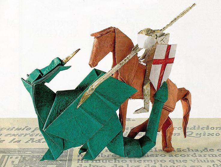 San Jorge de papel, origami - Heraldo de Aragón