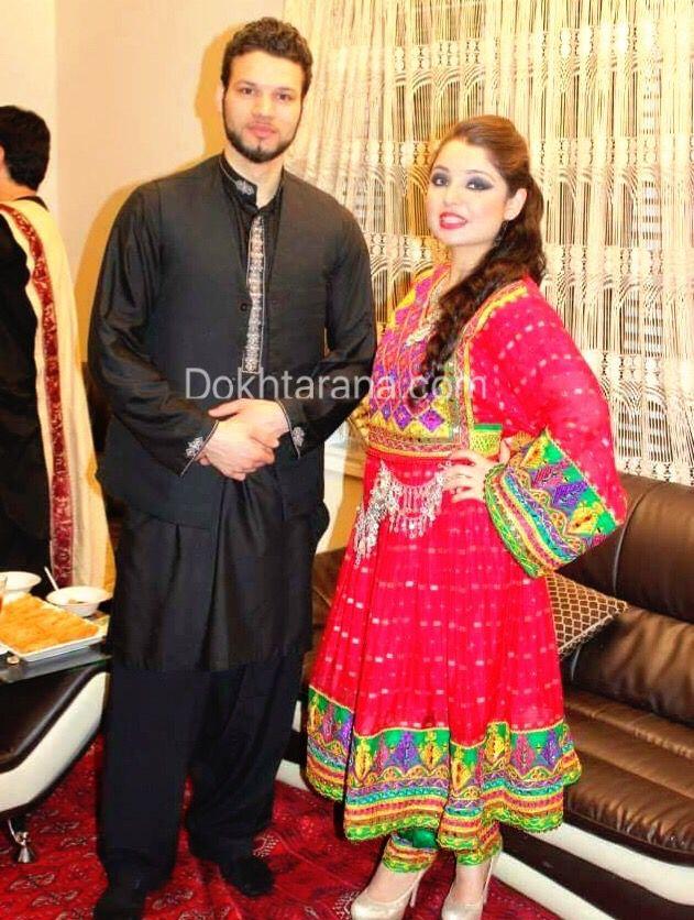 Afghan Red Black National Dress Afghan Pinterest