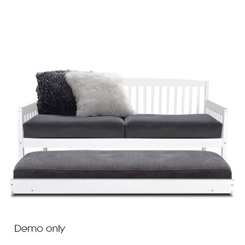 Wooden Sofa Bed Frame w/ Pull Out Trundle