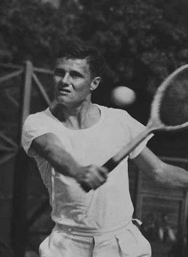 Ted Schroeder,1949 Wimbledon Singles Champion, inducted into Tennis Hall of Fame in 1966. #tennis