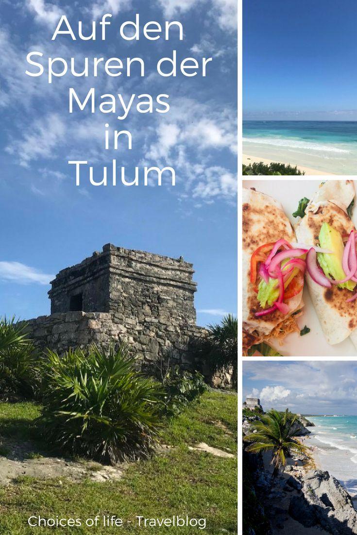 Auf meiner Yucatan Rundreise ist Tulum für mich mein persönliches Traumziel und absolutes Muss! 😍 Weiße Karibikstrände, türkisblaues Meer, eine tolle Innenstadt und die faszinierende Ruinenstätte der Mayas.