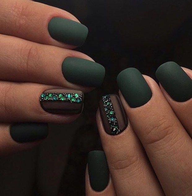 Idei Manichiura 2018 Mate Unghii Matte Nails Nails Und Green