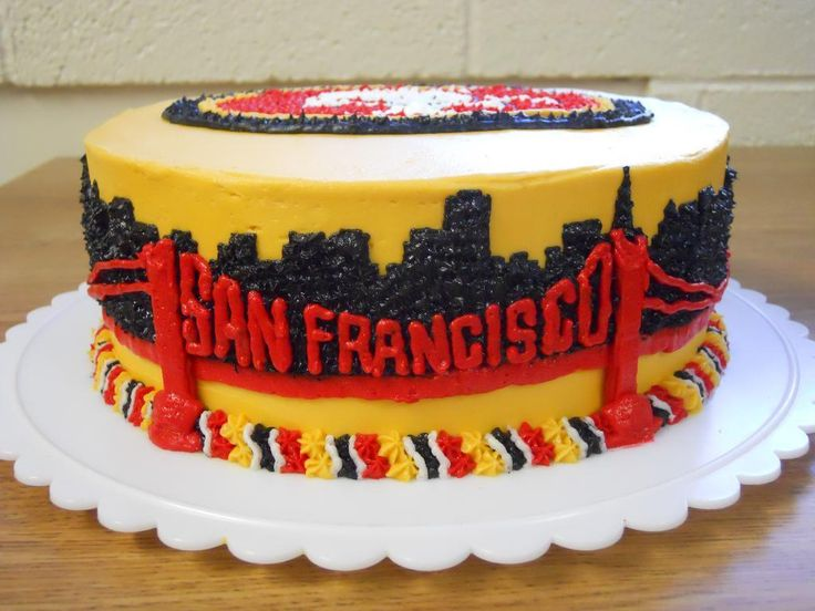 Birthday Cake Design San Francisco : 32 best images about san Francisco 49ers on Pinterest ...