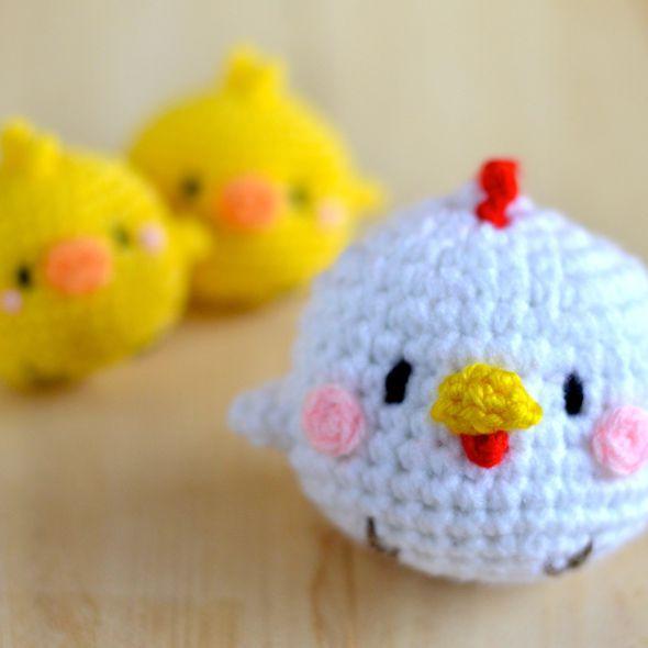 GRÁTIS galinha & dos pintainhos AMIGURUMI PADRÃO: TORI & TAMA-GO - amiguruMEI あ み ぐ る メ イ