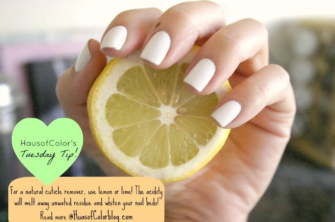 HausofColor Tip: All natural cuticle remover!