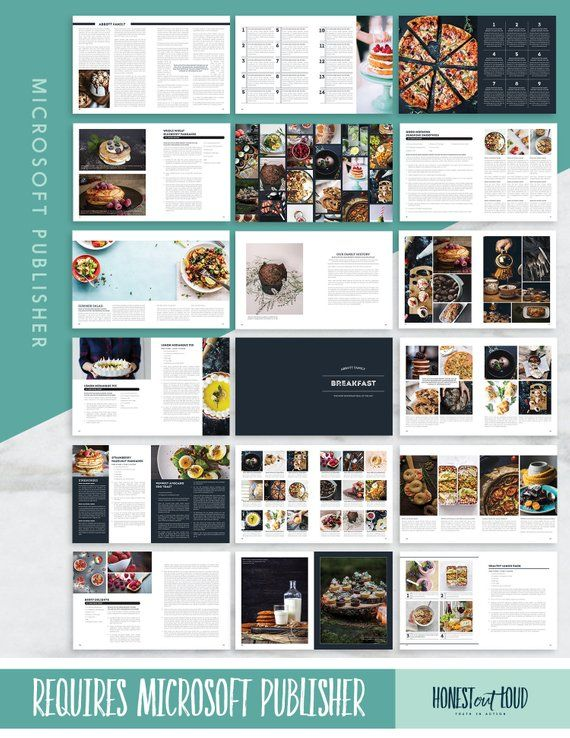 Recipe Template Cookbook Template For Microsoft Publisher Etsy Cookbook Template Recipe Template Microsoft Publisher