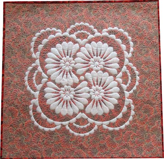 """Shadow Trapunto Quilt for sale 26"""" x26"""""""