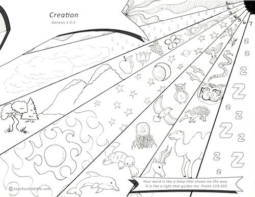 kids coloring page creation story for kids coloring pages chronological bible story based childrens ministry curriculum