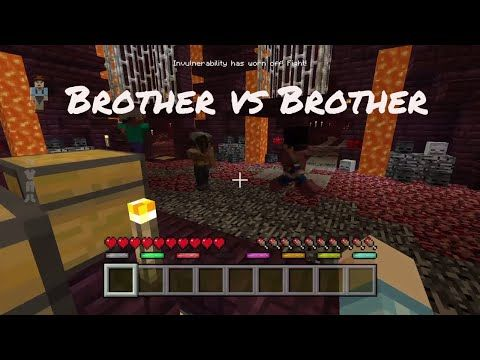 Minecraft battles! Saving friends, and brother Vs brother fight! - YouTube