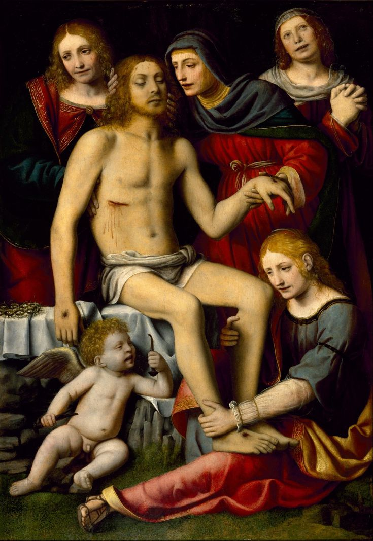 Lamentation over the Dead Christ / Lamentación sobre Cristo muerto // c. 1515–1520 // Bernardino Luini // © The Museum of Fine Arts, Houston // #Jesus #GoodFriday #VirginMary #Pietà