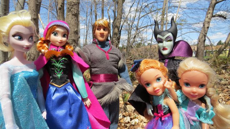 "This toy dolls video shows queen Elsa and princess Anna from the Disney's movie ""Frozen"" , their children Elsya and Anya (fictitious characters) and Kristoff  going on a forest adventure. They are playing and having fun enjoying the nature and animals from the woods, but Maleficent is lurking nearby ... See what happens.  #elsa #anna #frozen #video #disney #movie #play #forest #adventure #fun #kids #children #girls #kristoff #maleficent #toys #dolls #fantasy"