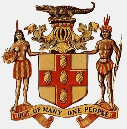 #Jamaican Coat of Arms | Out of Many One People #Jamaica