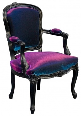 .: Velvet Chairs, Houses, Desks Chairs, Purple Velvet, Color, Iridescent Velvet, Upholstered Chairs, Purple Chairs, Victorian Antiques