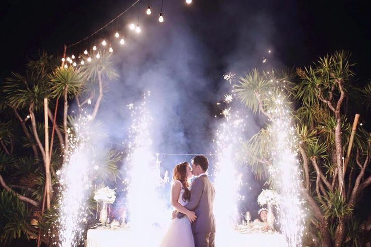 Light Up your First Dance with Pyrotechnics from Bali Wedding Entertainment