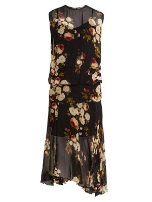 Charlotte peony-print midi dress     Preen Line   MATCHESFASHION.COM US