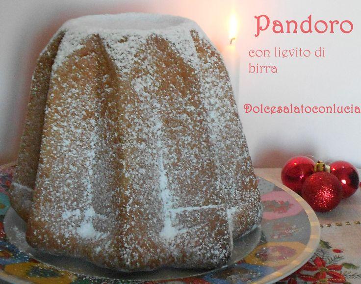 Pandoro con lievito di birra. #Natale #dolci
