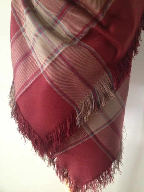 A Lovely Christmas #Gift For Her !   Cozy, warm fall and Winter Scarf  Red Tartan Plaid Casual #Shawl   Red Large square shape  blanket #scarf,   Traditional Turkish Wrap  You... #weddings #accessories #etsy #bridal #wrap #bridesmaid