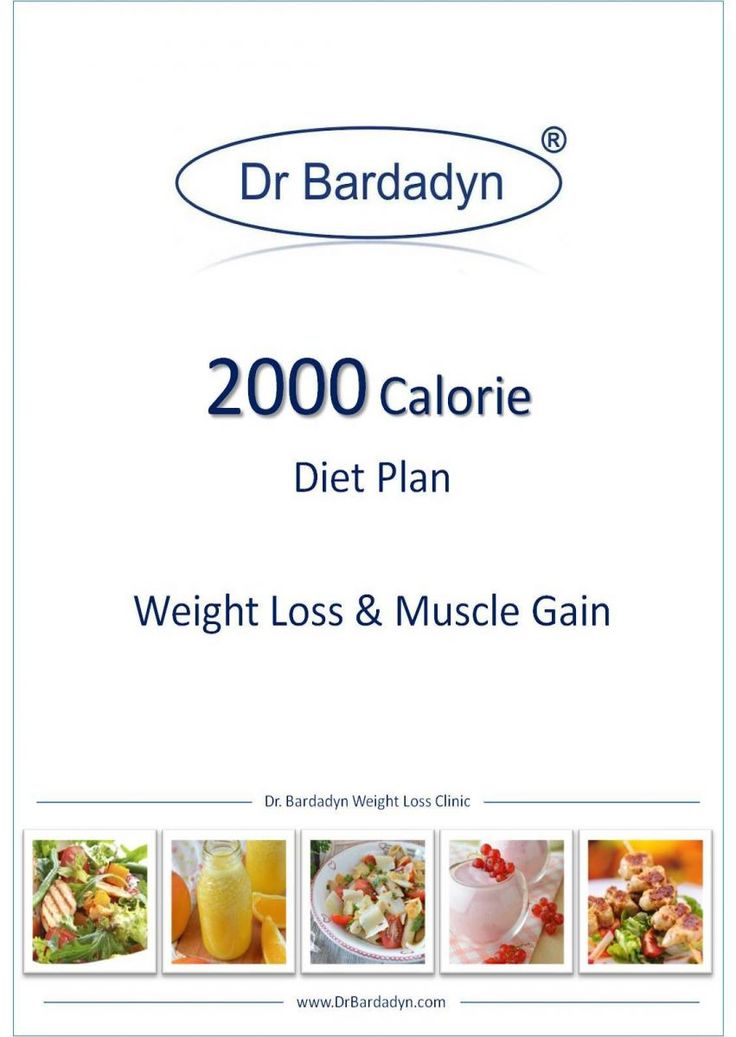 2000 calorie diet plan - weight loss & muscle gain