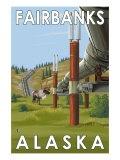Fairbanks, Alaska, Alaskan Pipeline Scene Posters