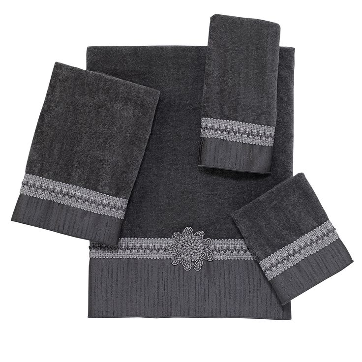 Pewter Braided Cuff 4-Piece Bath Towel Set