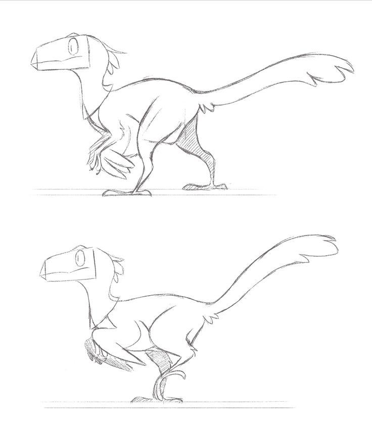 Рисунки про динозавров карандашом поэтапно