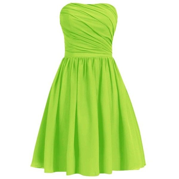 Lime green bridesmaid dresses ❤ liked on Polyvore featuring dresses, green color dress, lime green dress, lime bridesmaid dresses, bridesmaid dresses and lime green cocktail dress