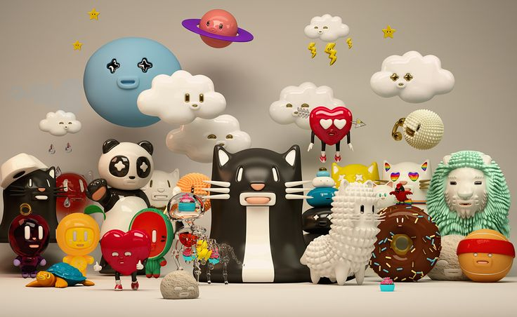 Mr. Kat & Friends collection 02 on Behance